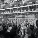 新潟から出港する帰国船のソ連のクリリオン号。1960年5月19日撮影小島晴則
